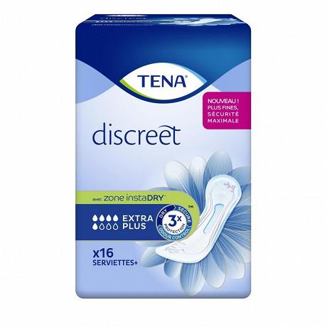 Tena discreet 16 serviettes extra plus