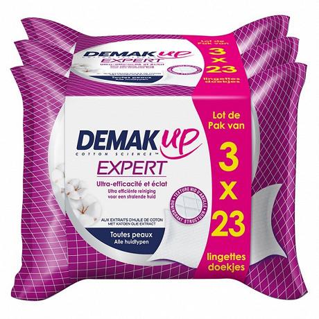 Demak'Up expert lingettes expert tous types de peaux 3x23