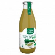 Ferme d'Anchin potage bio petit pois brocoli & courgette 98.5cl