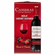 Cambras Merlot-Cabernet Savignon rouge 5L 12.5%vol