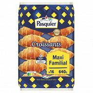 Brioche Pasquier 16 croissants au levain maxi familial 640 g