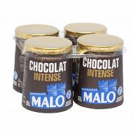 Malo lait pasteurisé emprésure sucré au chocolat intense 4x125g