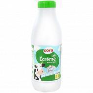 Cora lait écrémé stérilisé UHT bouteille 1l