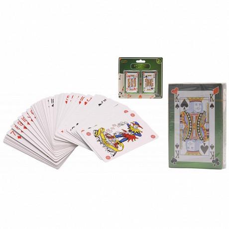 Lot de 2 jeux de 56 cartes