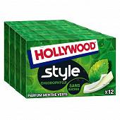 Hollywood style menthe verte sans sucres x4 92g