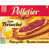 Lu pelletier pain grille gout brioche 24t