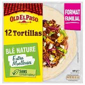 Old el paso tortillas blé nature  format familial  x12 480g