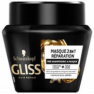 Gliss soins avec rincage - masque 2en1 reparation couleur pot 300ml
