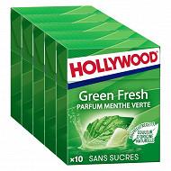 Hollywood menthe vert sans sucre 5x10d 70g