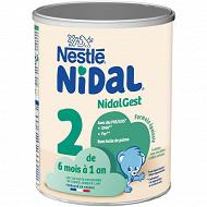 Nestlé Nidal Plus Lait 2ème âge dès 6 mois 800g