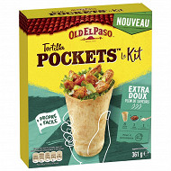 Old el paso kit tortilla pockets extra doux 361g