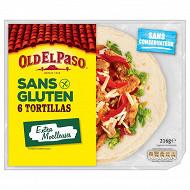 Old el paso tortillas sans gluten 216g