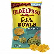 Old el paso chips tortilla bowls sea salt 150g