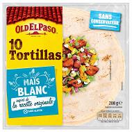 Old el paso tortillas de mais blanc 208g