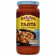 Old el paso sauce à cuisiner pour fajitas extra doux 395g