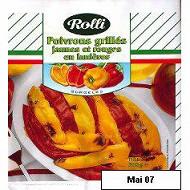 Rolli lanières poivrons jaunes et rouges grillés 300g
