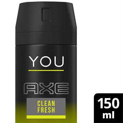 Axe Axe déodorant homme spray You clean fresh 150ml