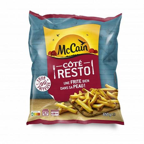 Mccain frites à peau côté resto 650g