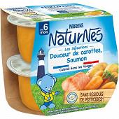Nestlé Naturnes Les sélections douceur de carottes saumon dès 6 mois 2x200g