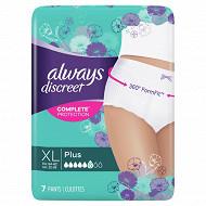 Always discreet culottes xl plus x7