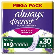 Always discreet serviette normal x30