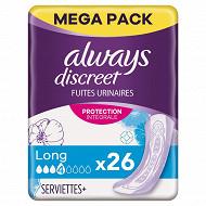 Always discreet serviette long x26