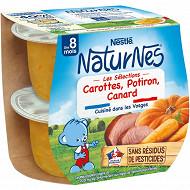 Nestlé naturnes carotte potiron canard 2x200g dès 8 mois