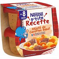 Nestle p'tite recette mijoté carottes boeuf bol 2x200g 12 mois