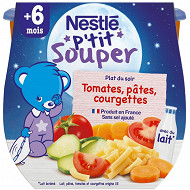 Nestlé p'tit souper tomates pâtes courgettes dès 6 mois 2x200g