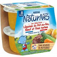 Nestlé Naturnes Les Séelections Légumes du Pot-au-Feu, bœuf dès 8 mois 2x200g