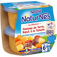 Nestlé Naturnes Les Sélections Pomme de terre, bœuf, tomate dès 6 mois 2x200g