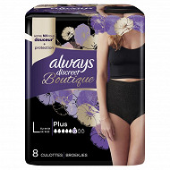 Always discreet incontinence lourde culottes boutiquu black 6 gouttes