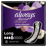 Always discreet incontinence modérée serviettes long x8