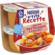 Nestlé P'tite Recette Légumes B?uf bourguignon dès 12 mois 2x200g