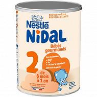 Nestle nidal 2 gourmands boite metal 800g 6 mois - 1an