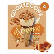 Extrême cookie cône caramel x4 - 284g