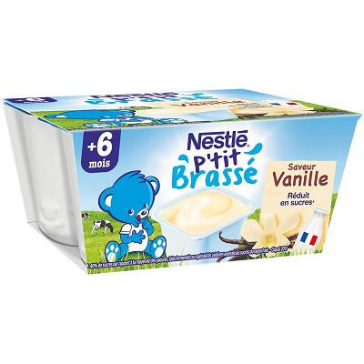 Nestlé Nestlé P'tit Brassé vanille dès 6 mois 4x100g