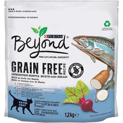 Beyond BEYOND croquettes pour chats Grain Free au Saumon avec du Manioc - 1,2kg