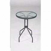 Table ronde bistro diamètre 60cm plateau en verre trempé