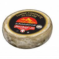 Tomme fondante au lait de vache et crème de chèvre la pointe percée - 29%mg/poids total