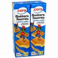 Cora gouters fourrés carrés vanille lot 2 x300g