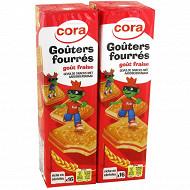 Cora gouters fourrés carrés fraise lot 2 x300g