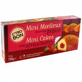 Mini moelleux fourrage fraise 5x30 g