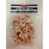 La Table des Pêcheurs queues de crevettes semi décortiquées cuites 250g