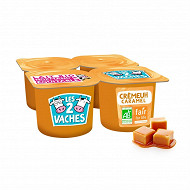 Les 2 Vaches crème dessert au caramel 4x95g
