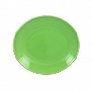 Coupelle ovale 19cm en gres vert