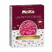 Motta les dragées coeurs chocolat fuchsia 250g