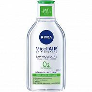 Nivea visage démaquillant micellaire 0% peau mixte à grasse 400 ml