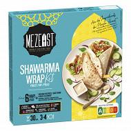Mezeat cuisine du moyen orient kit de 37 wrap poulet shawarma