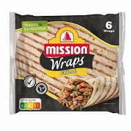 Mission wraps blé nature grillé 6x370g